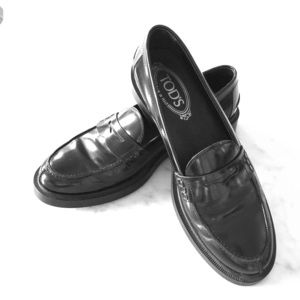 Tods Penny Loafers - Women's (black 38.5)
